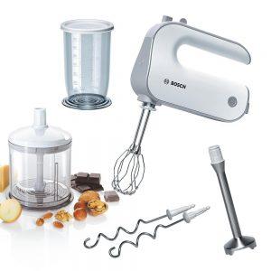 Håndmixer med stavblender og minihakker – Køkkenredskaber
