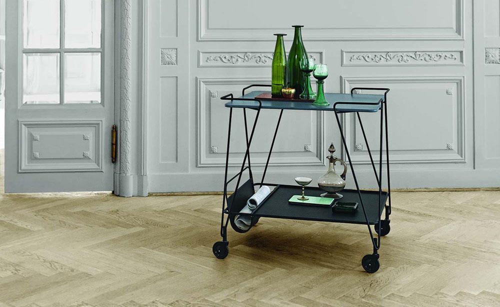 Rullebord og serveringsvogn   12 modeller til køkken og stue