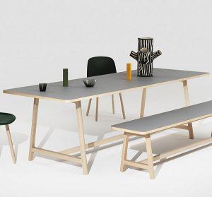 Design spisebord med udtræk