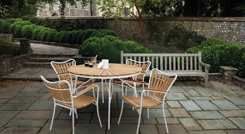 Teak havemøbler   7 rustikke sæt i massiv teak